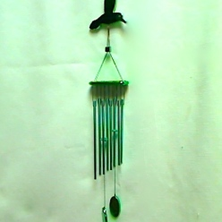 Wind Chimes – Gre/Metal Hummingbird   #WC5848