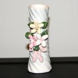 Bud Vase w/3D flowers   #V-8834