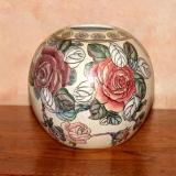 Round Vase – Roses   #V-90341