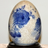 "Oriental Themed ""Egg"" w/stand    #OE-1911"