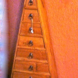Pyramid-shapped Cabinet    #T-018