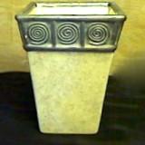 Vase w/Grey Swirls   #28678