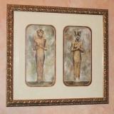 Framed double Picture ~ King Tutankhamen  #WH-1989