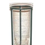 Glass Vase w/3 legged Metal Stand   #V-3229