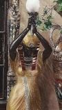 Egyptian Priestess Floor Lamp   #0332