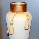 Vase w/tassels   #V-101