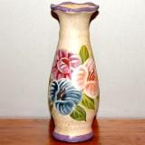 Vase w/painted Floral Design   #V-36632