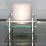 sm Pillar Candle w/Metal & Glass Stand #C-0219