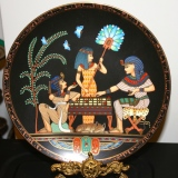 """Collector Plate – """"The Ancient Game of Senet""""  #15-075-14"""