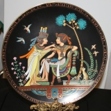 """Collector Plate – """"Adornments for the King""""  #15-075-15"""