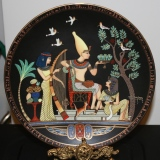 """Collector Plate – """"Banquet in the Royal Gardens""""  #15-075-13"""