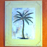 Framed – Palm Tree Painting   #P-130