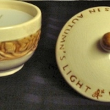 Candle in Lidded Bowl   #C-399
