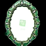 Frame – Metal & Jeweled Oval Solid   #PF-106