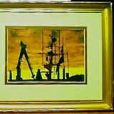 Framed – Sunset at Southampton Harbour   #PA-743