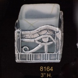 T-Lite Candle Holder – Pewter & Glass  #8164