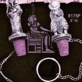 Pewter Wine Cork – Baboon w/Disc Crown  #8175-F