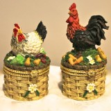 Pill Boxes – Rooster or Chicken  #G-95