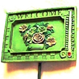 Garden Welcome Sign w/Thermometer  #39365