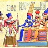 Plaque – Ramese II before Osiris, Isis, & Hathor  #P-905