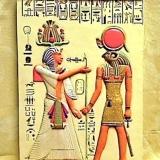 Plaque – Khonsu & a Pharaoh   #68176