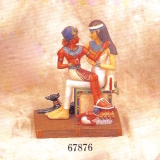 King Amenophis II sitting on the lap of his Wet Nurse  #678976