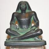 Seated  Scribe – large Green/BlackSeated   #ES-20