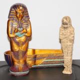 Sarcophagi of King Tut w/Mummy  #67824