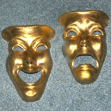 Theater Masks – Brass   #MG-51968