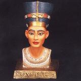 Nefertiti head – med. in colour  #EP-0148