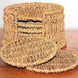 Coaster Set – Wicker   #52020