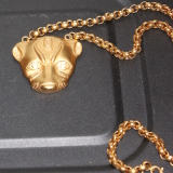 Leopard Head Necklace   #G-14