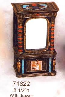 Egyptian Jewelry Box w/drawer