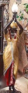 Egyptian Priestess Floor Lamp