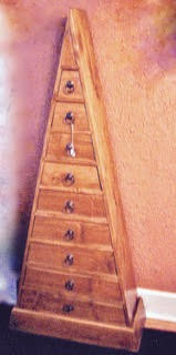 Pyramid-shapped Cabinet